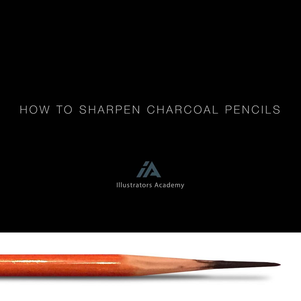 How To Sharpen Charcoal Pencils Cover Image