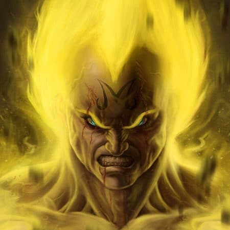 Majin Vegeta digital painting portrait by Adam Miconi