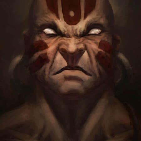 Street Fighter Dhalsim digital painting portrait by Adam Miconi