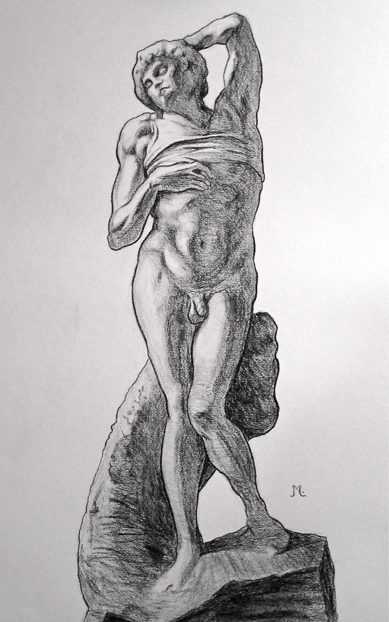 Michelangelo Prisoner Drawing Study
