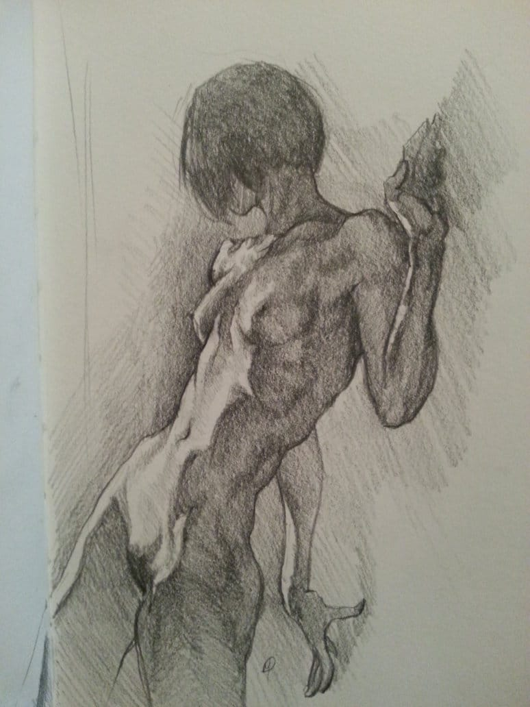 Figure Drawing in Sketchbook