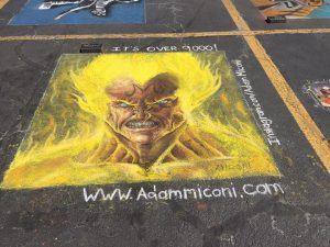 Chalk It Up North Vegeta by Adam Miconi