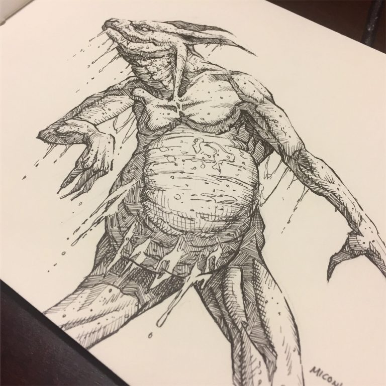 Inktober Day 23 Juicy by Adam Miconi