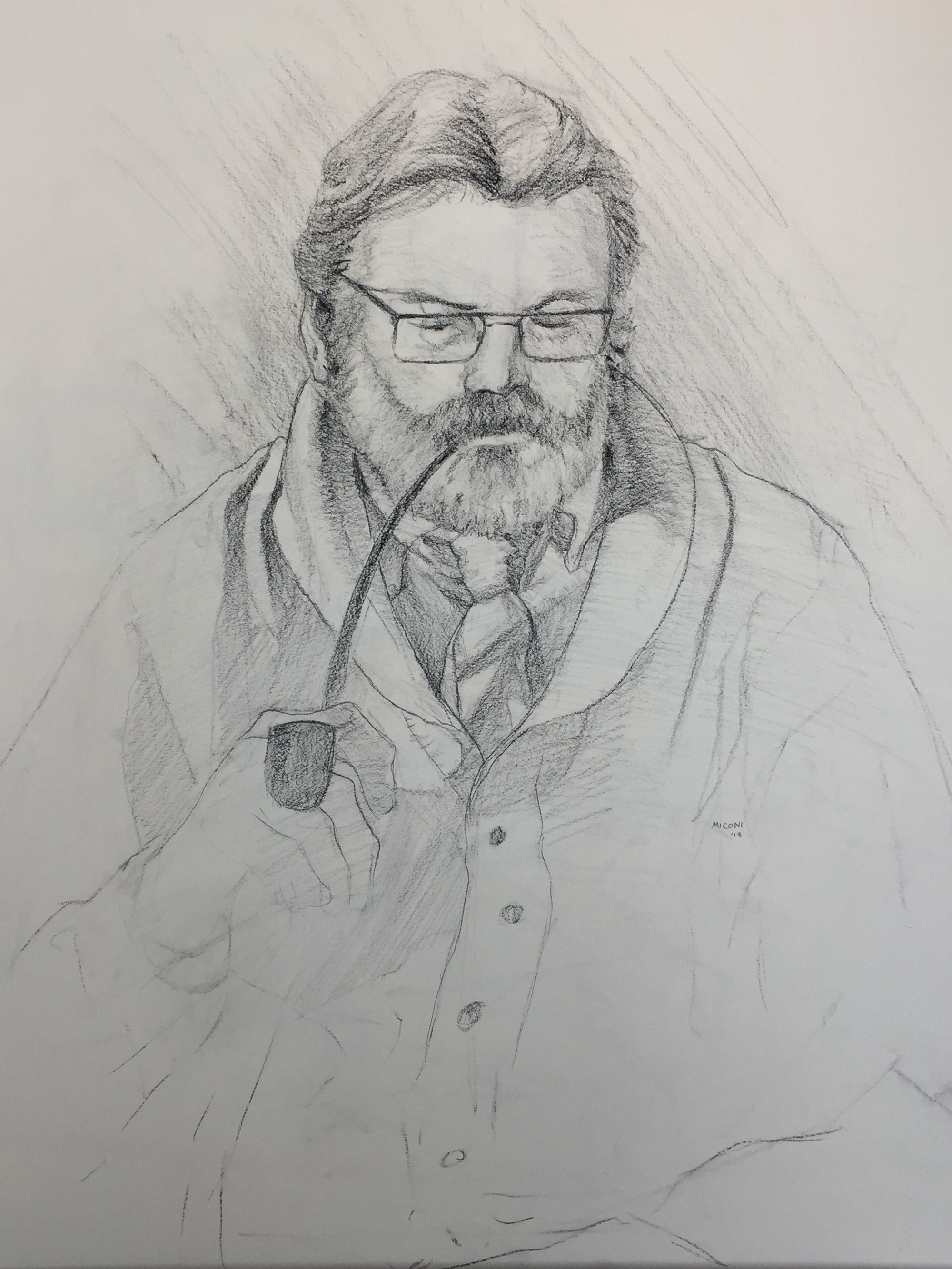 Figure Drawing in Charcoal | The Pastor | Final Drawing
