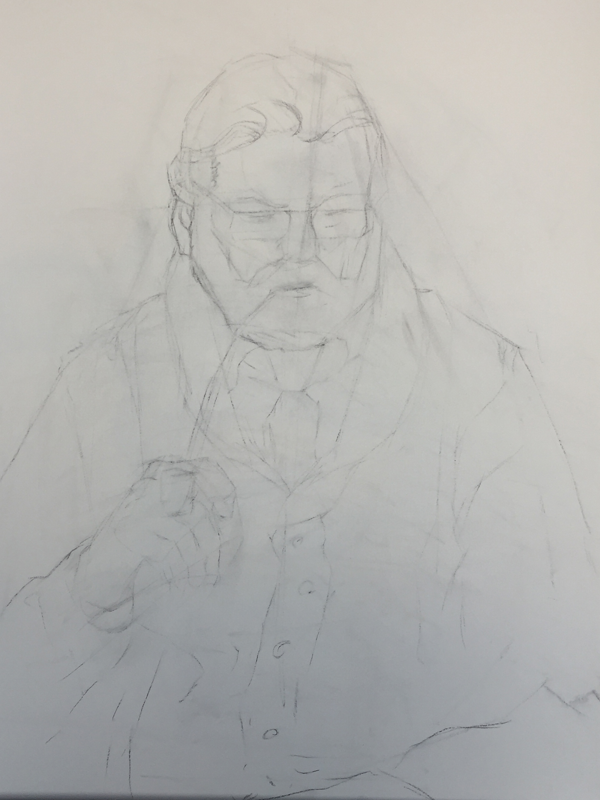 Figure Drawing   The Pastor   Scrubbed Lines