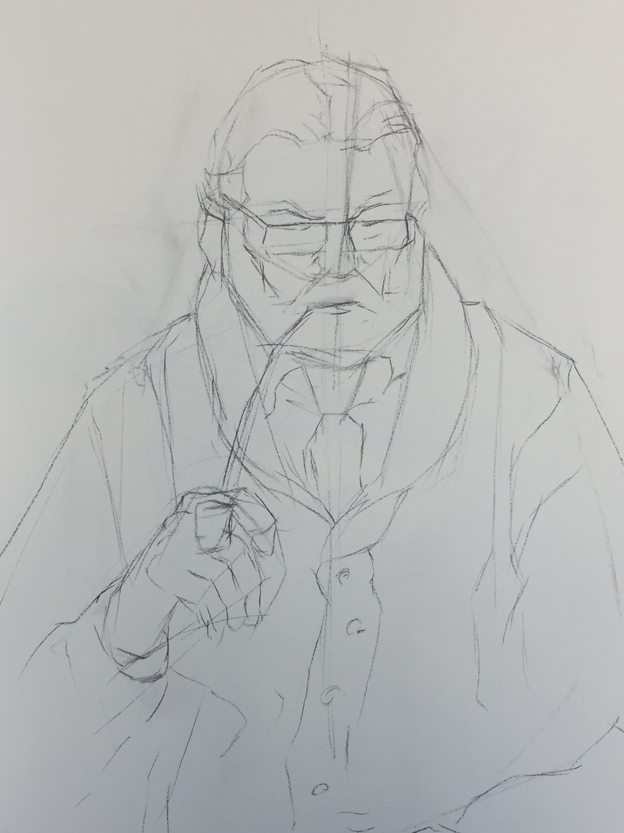 Figure Drawing   The Pastor   Structural Lines