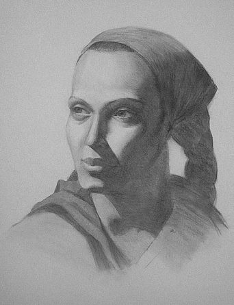 female-charcoal-portrait